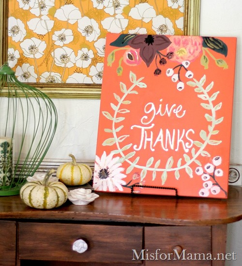 give thanks painting