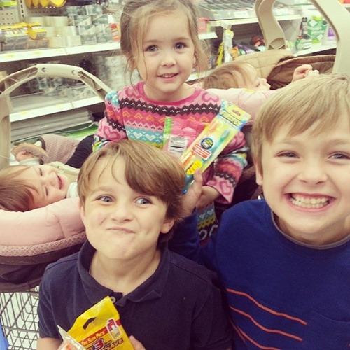 kids at walmart