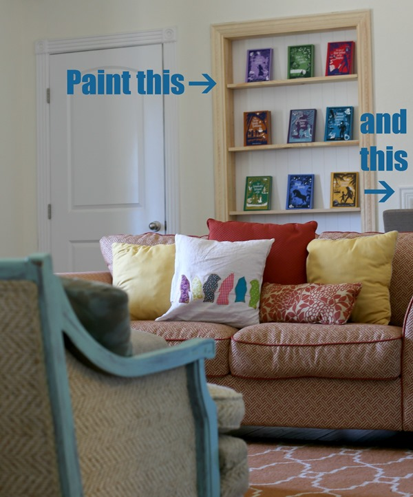 sitting room bookshelves