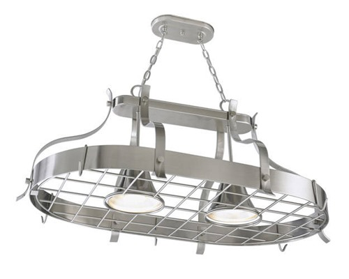 pot rack light combo