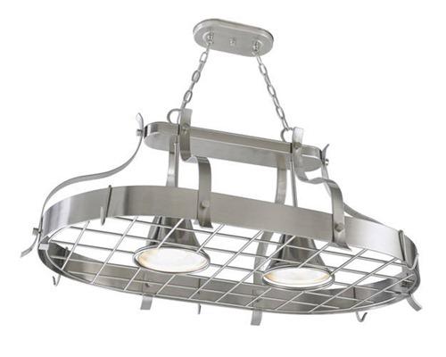 pot rack light combo