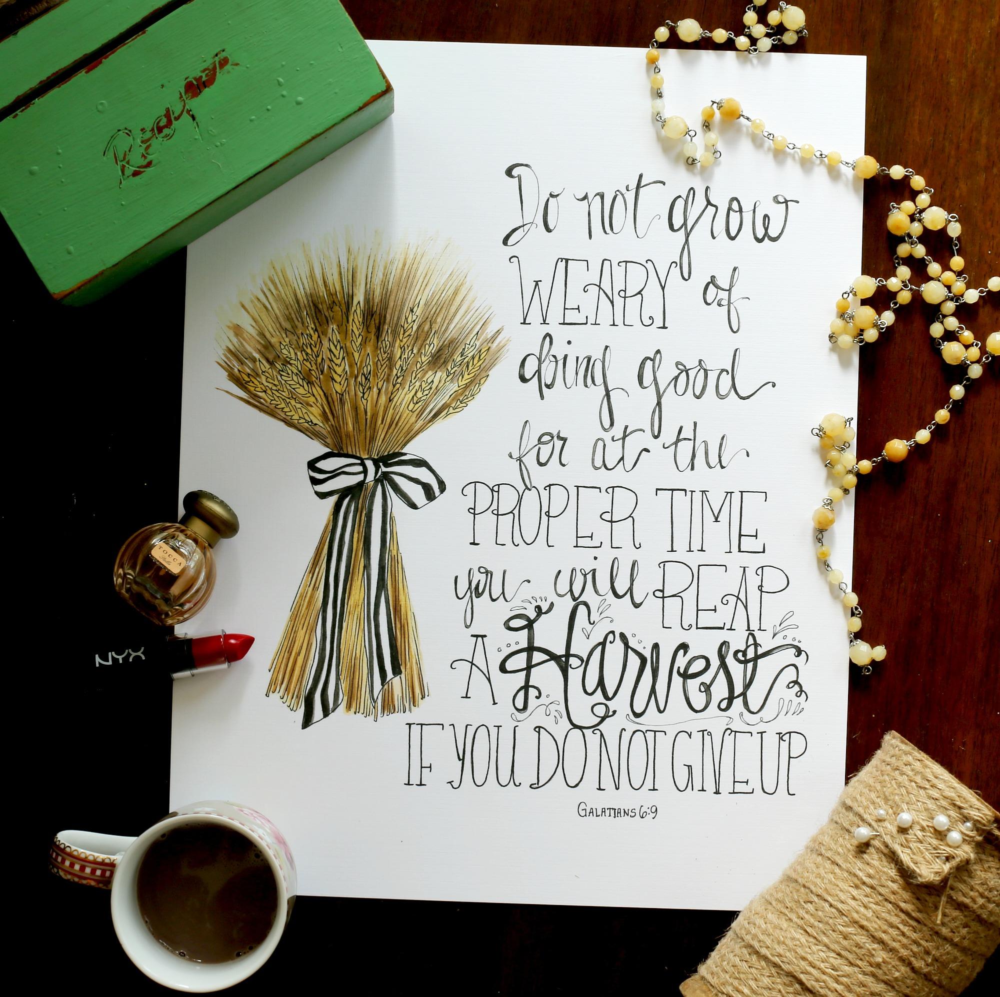 do not grow weary2