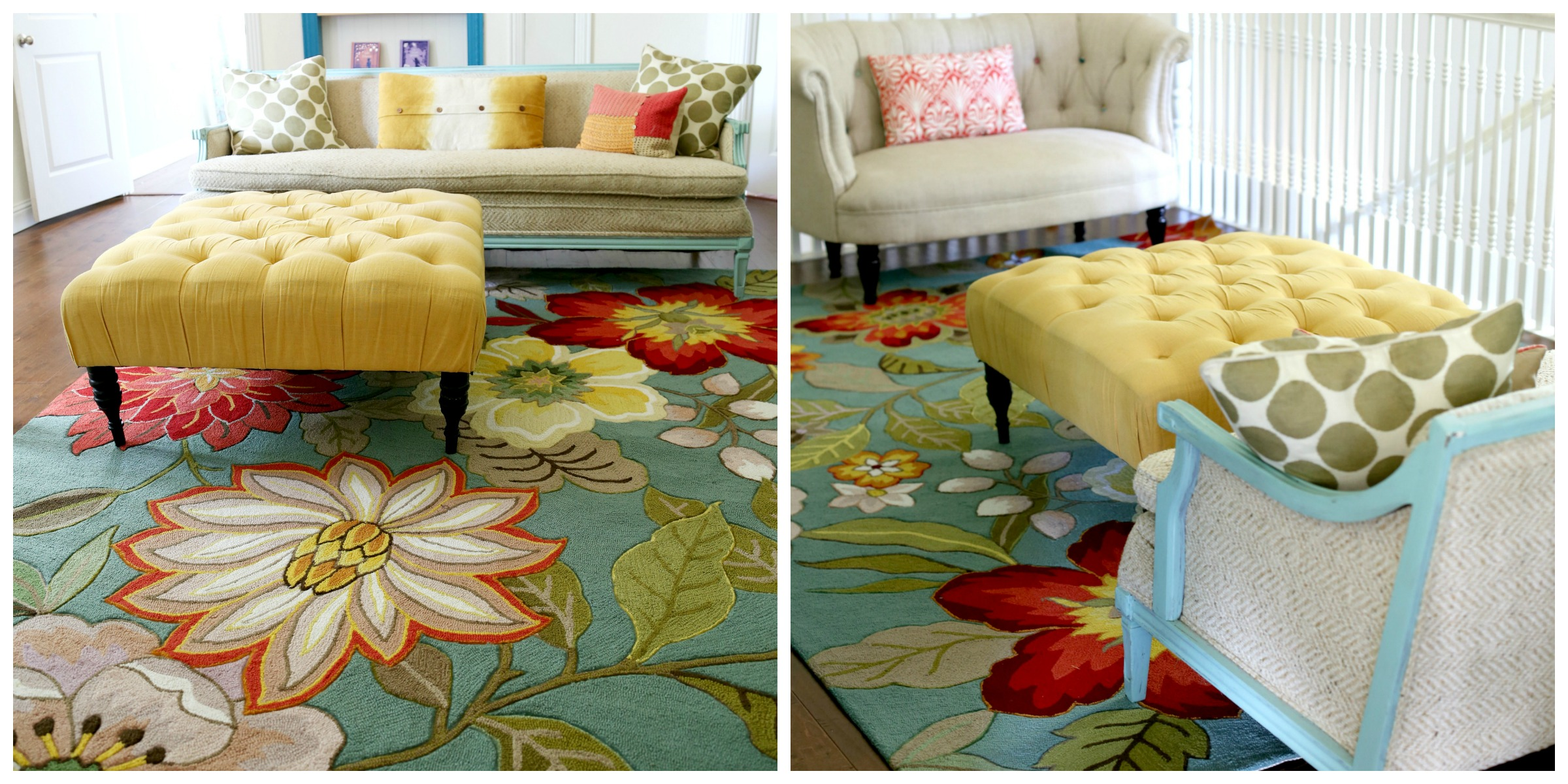 flower rug collage