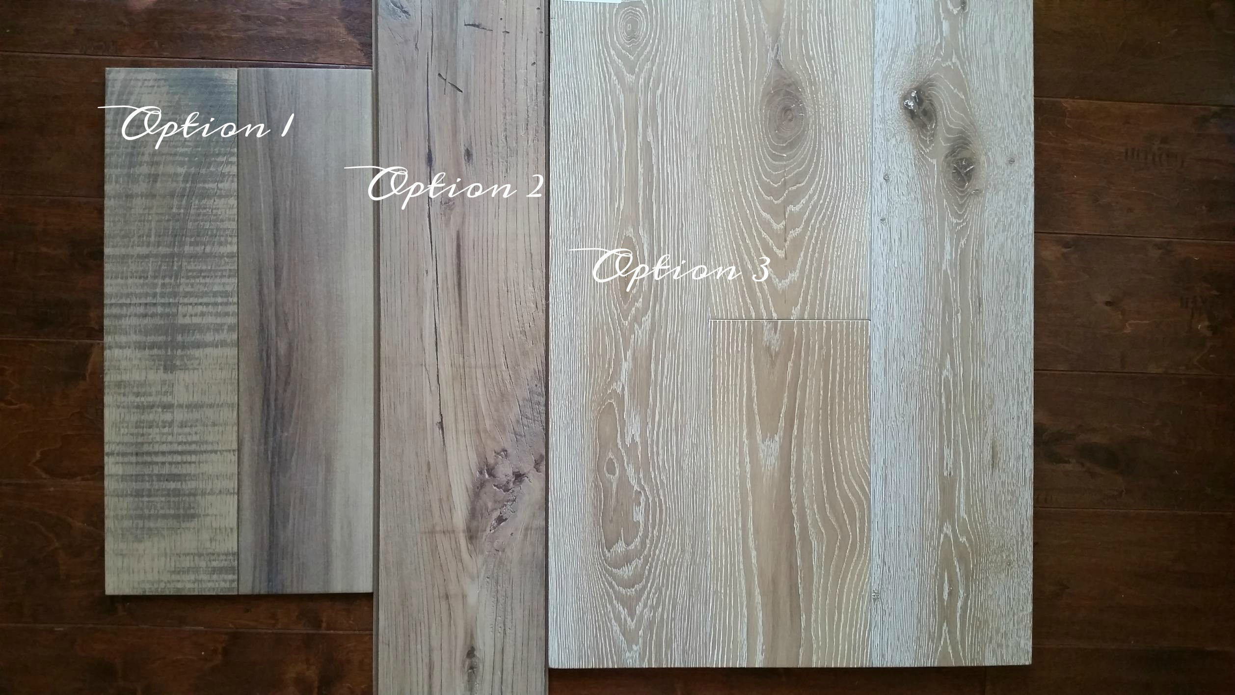 wood floor labeled