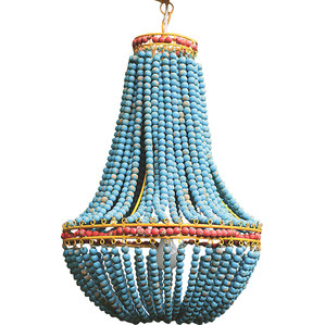 blue beaded pendant