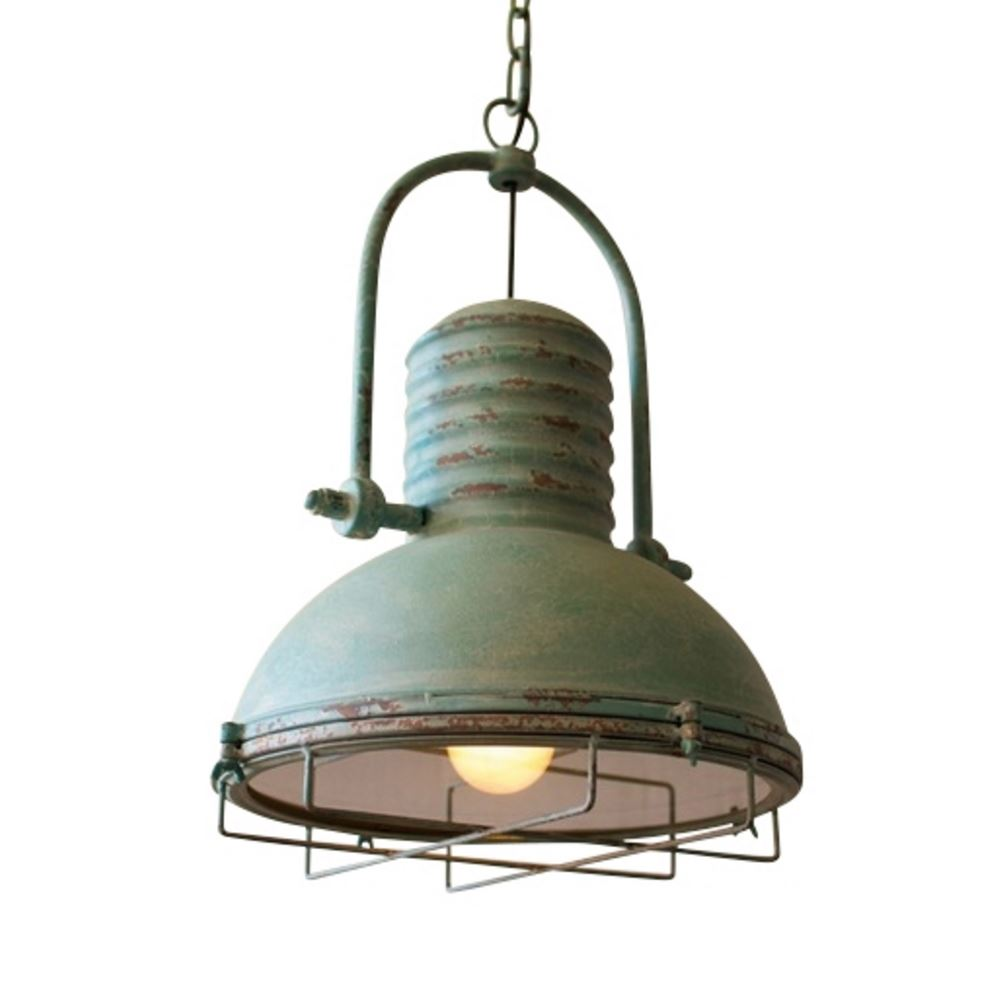 Antique Turquoise Pendant Lights M Is For Mama Room Cage Ceiling Light Vintage Retro On Wiring Led Light2