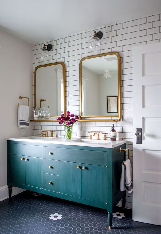 teal bathroom