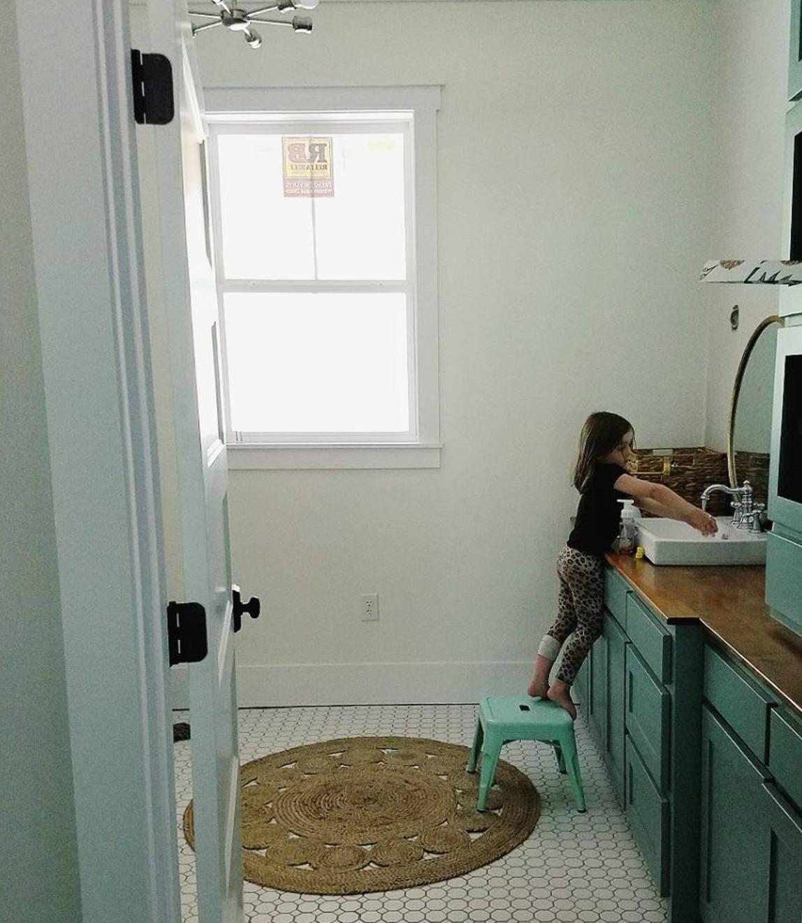 downstairs bath tile